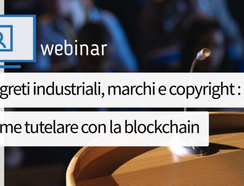 Gianluca Morretta relatore al webinar organizzato da UIBM, EUIPO e Innexta in materia di blockchain e tutela della proprietà intellettuale