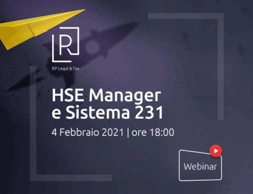 """Videoforum """"HSE  MANAGER E SISTEMA 231"""""""
