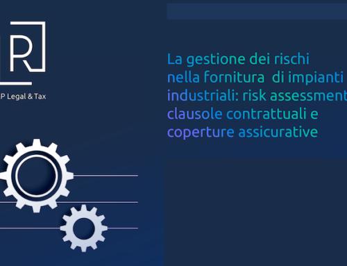 SAVE THE DATE – Workshop sulla contrattualistica e la gestione del rischio nella vendita internazionale di impianti