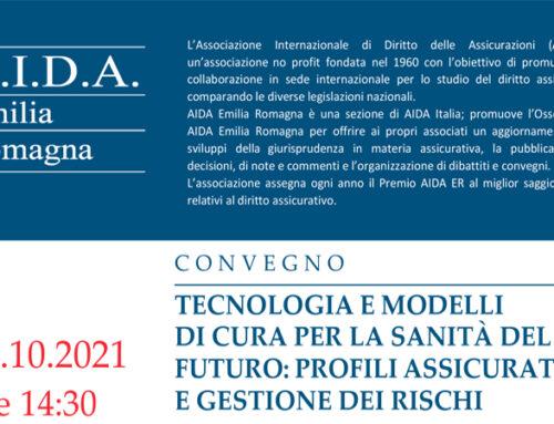 Convegno | Tecnologia e modelli di cura per la sanità del futuro: profili assicurativi e gestione dei rischi – Giovedì 21 ottobre 2021 ore 14:30